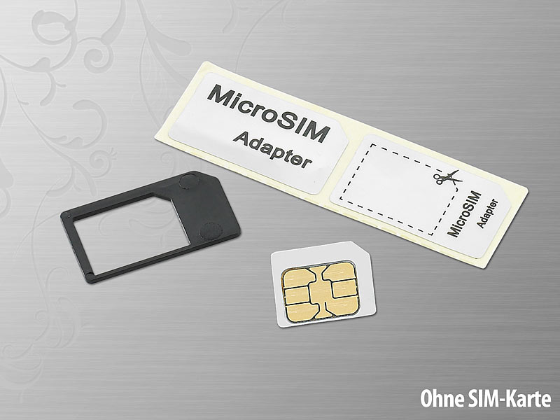 callstel sim karte adapter micro sim adapter simcard adapter. Black Bedroom Furniture Sets. Home Design Ideas