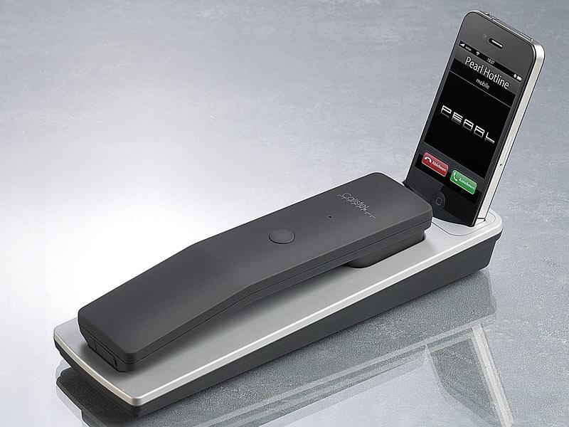 callstel dockingstation inkl telefonh rer mit bluetooth f r iphone 3gs 4 4s. Black Bedroom Furniture Sets. Home Design Ideas