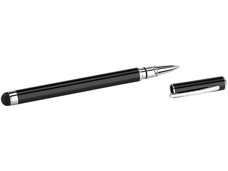 callstel smartphone pen 2in1 kugelschreiber touchscreen stift metallgeh use schwarz handy. Black Bedroom Furniture Sets. Home Design Ideas