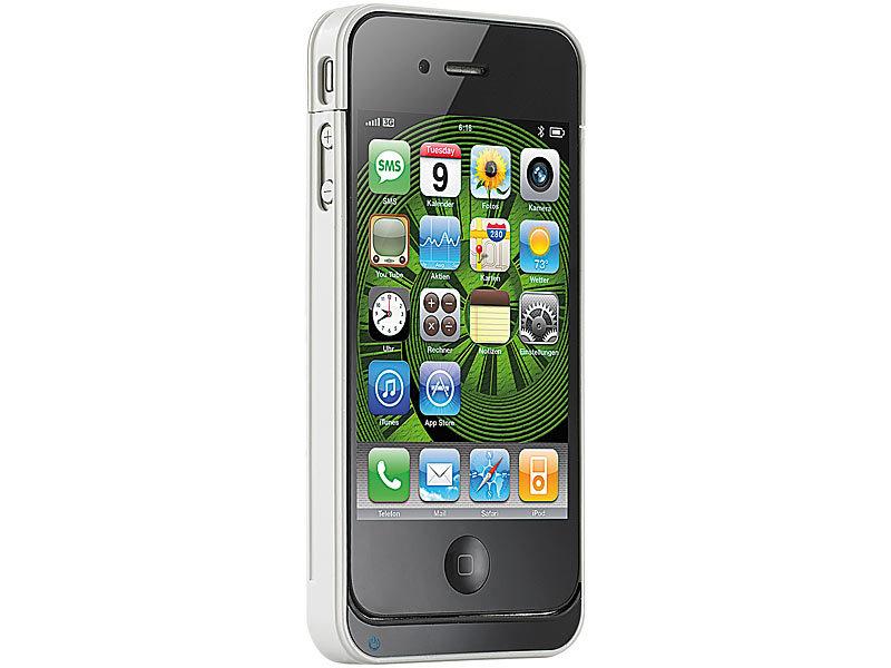 callstel iphone 4s zubeh r schutzcover mit 1400 mah akku. Black Bedroom Furniture Sets. Home Design Ideas