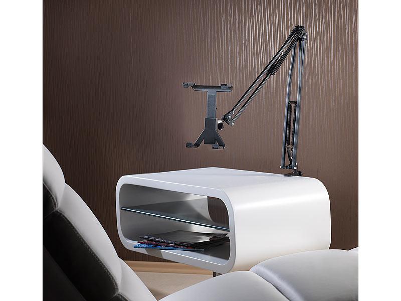 callstel tablet halterung bett pro tablet halterung bis 12 9 13 mit schwenkarm zur tisch. Black Bedroom Furniture Sets. Home Design Ideas