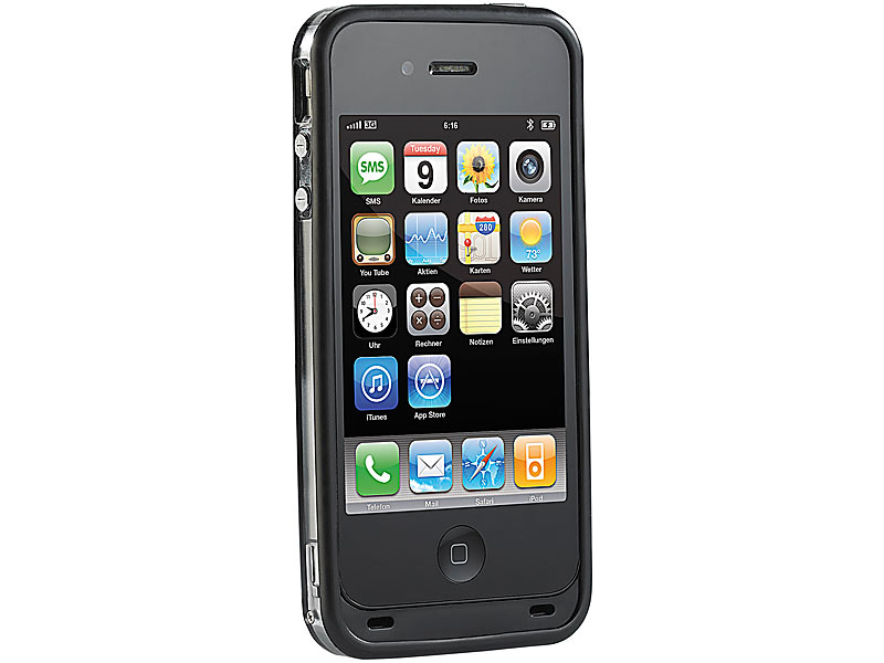 callstel powerbank iphone 4s bumper f r iphone 4 4s mit. Black Bedroom Furniture Sets. Home Design Ideas