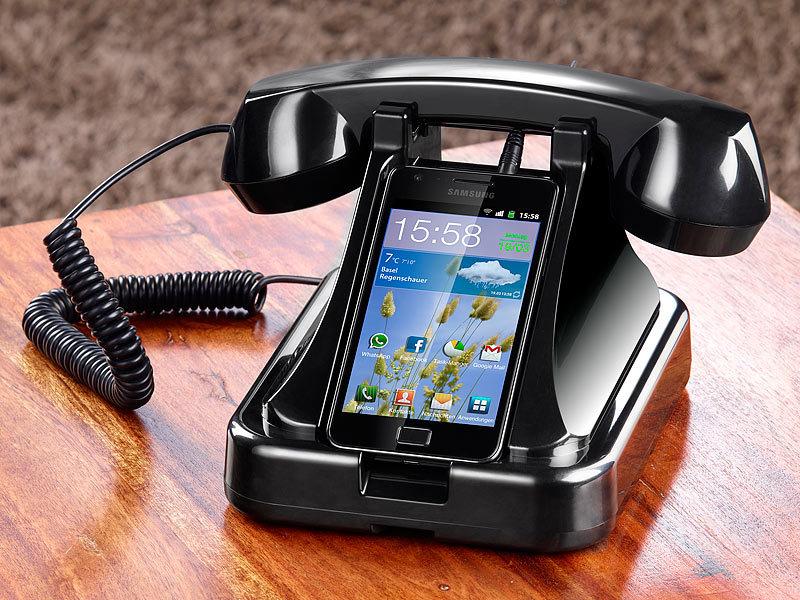 callstel telefonst nder mit retro h rer f r smartphones refurbished. Black Bedroom Furniture Sets. Home Design Ideas