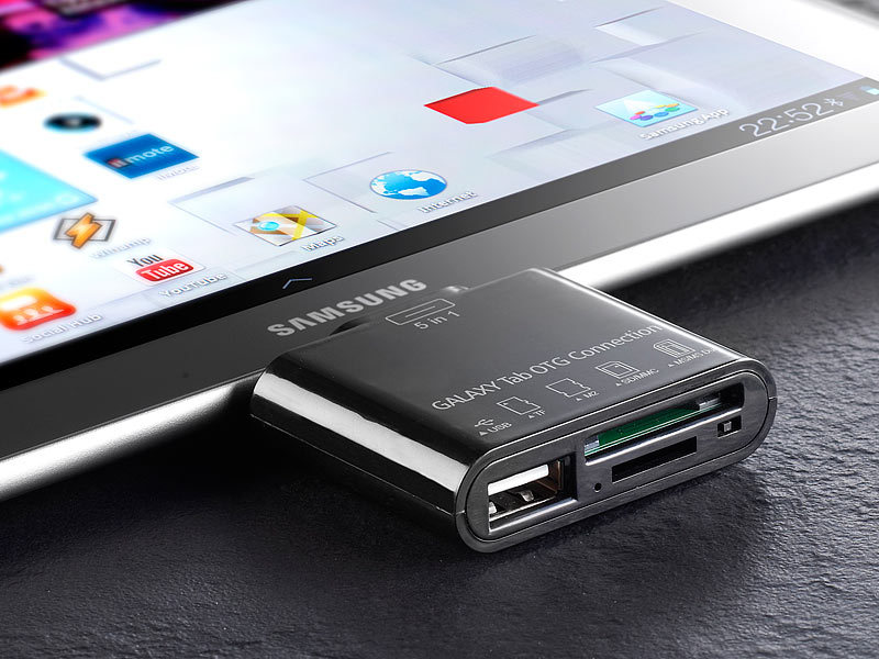 how to connect sd card to galaxy tab seamlessly
