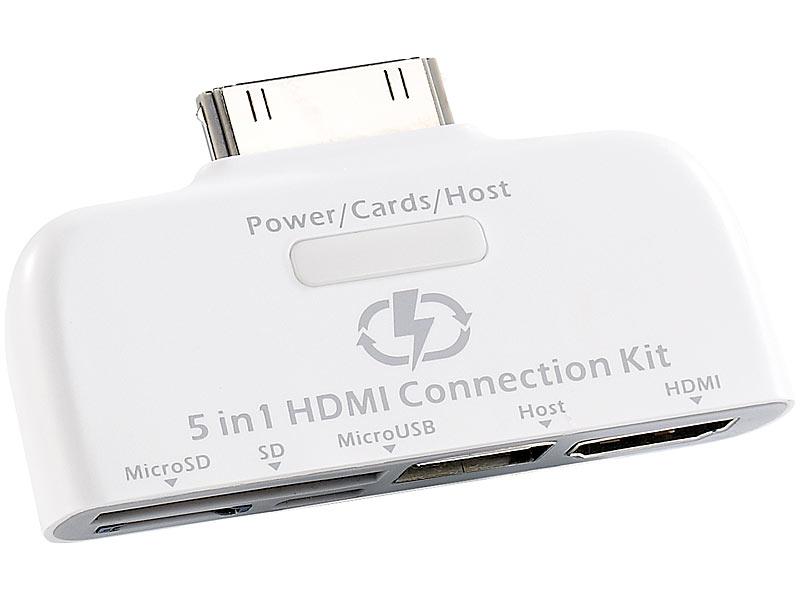 Callstel in adapter für ipad mit hdmi ausgang usb sd microsd usb