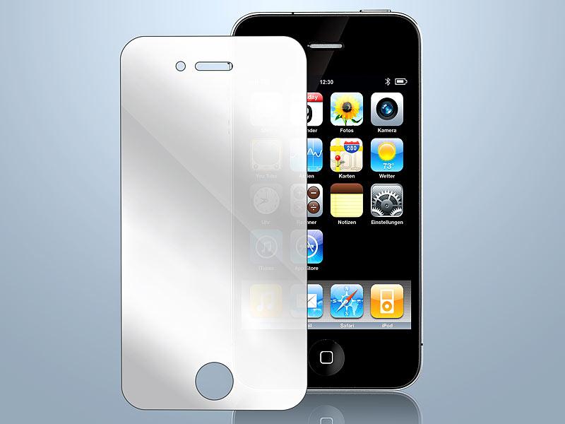 Somikon Displayfolie Iphones 4s Spiegel Display Schutzfolie