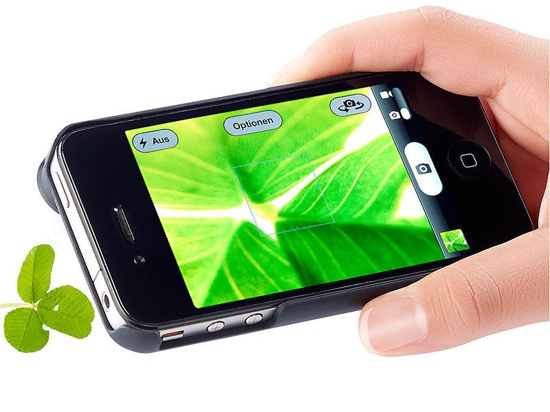 Somikon iphone 4 kameralinsen: mikroskop für iphone 4 4s mit 50