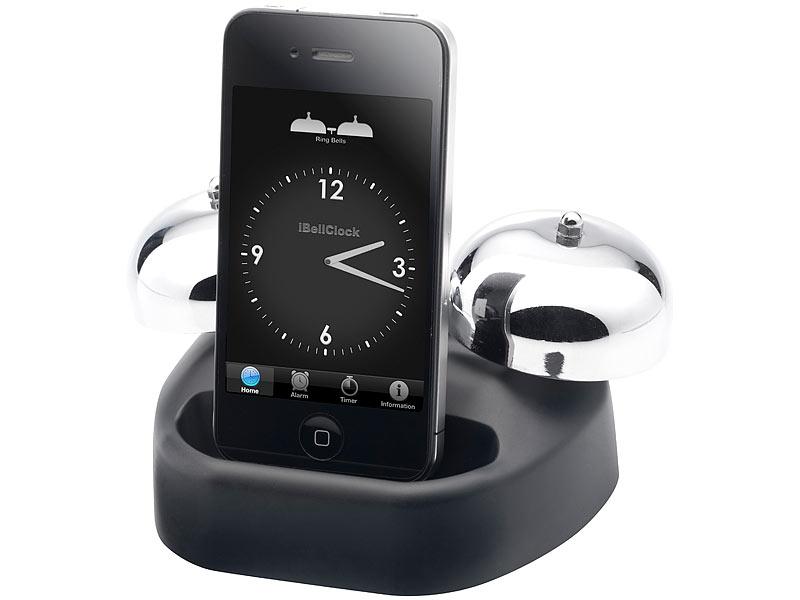 Callstel Dockingstation mit mechanischem Wecker für iPhone 3/3G/3Gs/4/4s