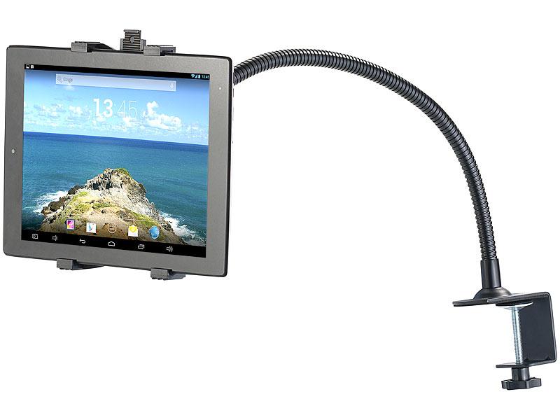 callstel tischhalterung f r tablets smartphones mit schwanenhals. Black Bedroom Furniture Sets. Home Design Ideas