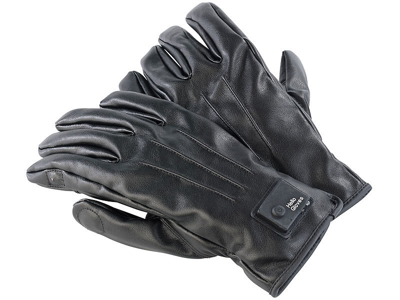42930f7b3ede28 Telefon-Handschuhe: Callstel Freisprech-Handschuhe, L, Bluetooth, Lederoptik,  Vibrationsalarm