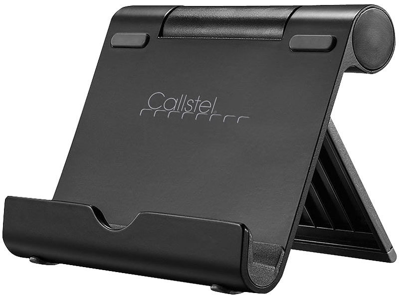 Callstel smartphone st nder aluminium multi winkel for Support tablette tactile cuisine