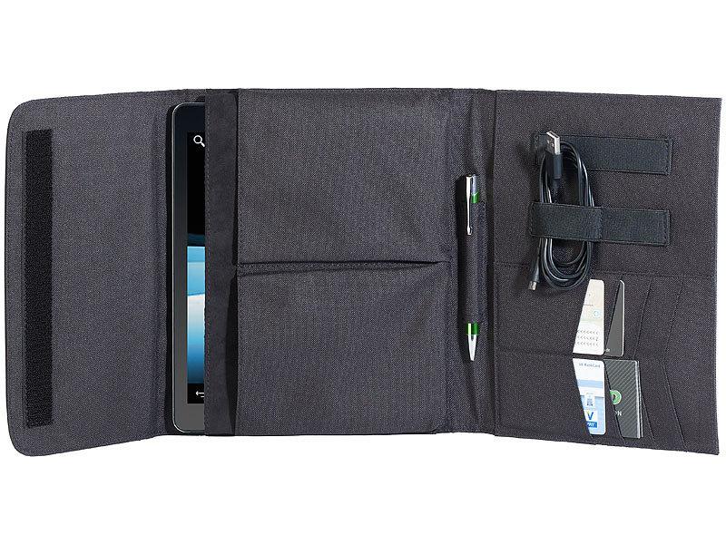 xcase tablet sleeve schutztasche mit zubeh r f chern f r tablet pcs bis 10 1 tablet pc case. Black Bedroom Furniture Sets. Home Design Ideas
