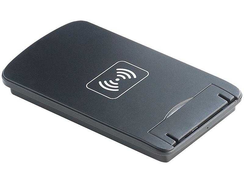 callstel qi ladestation mit 3 spulen qi receiver pad f r galaxy s5. Black Bedroom Furniture Sets. Home Design Ideas