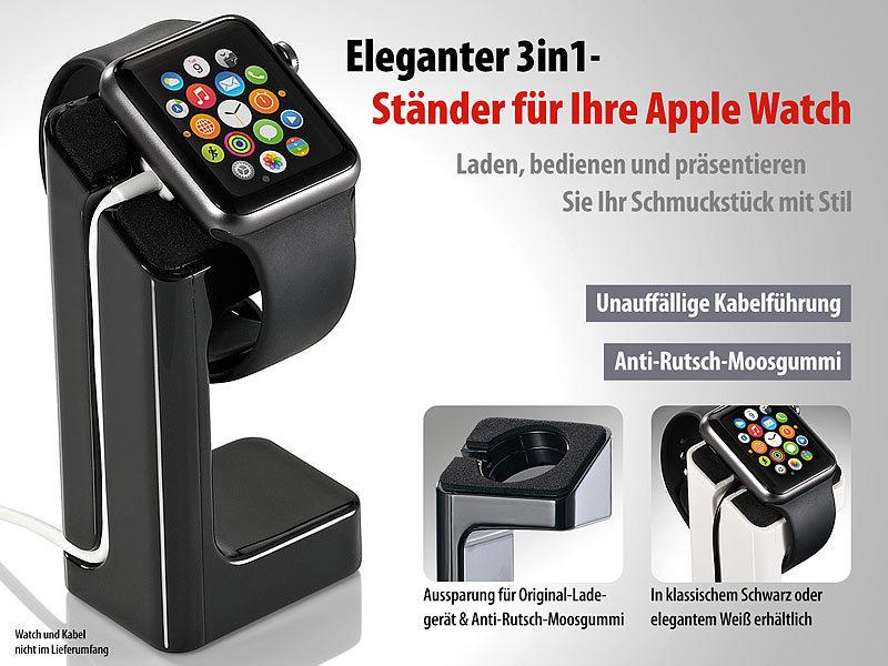 Callstel Apple Watch Ladestation: Eleganter 3in1 Ständer für