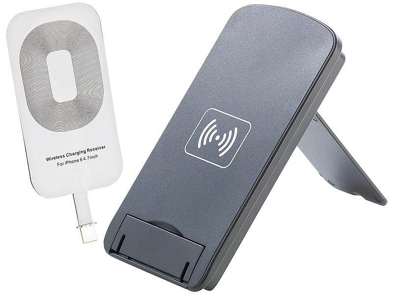 callstel qi ladestation m 3 spulen receiver pad iphone 6 s 6 s plus. Black Bedroom Furniture Sets. Home Design Ideas