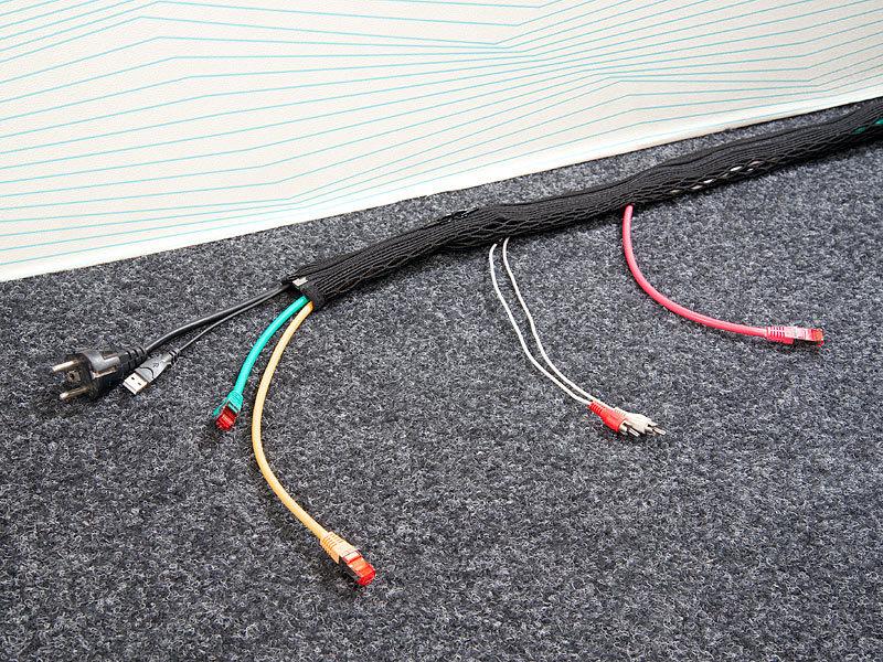 callstel kabelschutz schl uche netzschlauch mit ausl ssen und rei verschluss 1 m schlauch f r. Black Bedroom Furniture Sets. Home Design Ideas