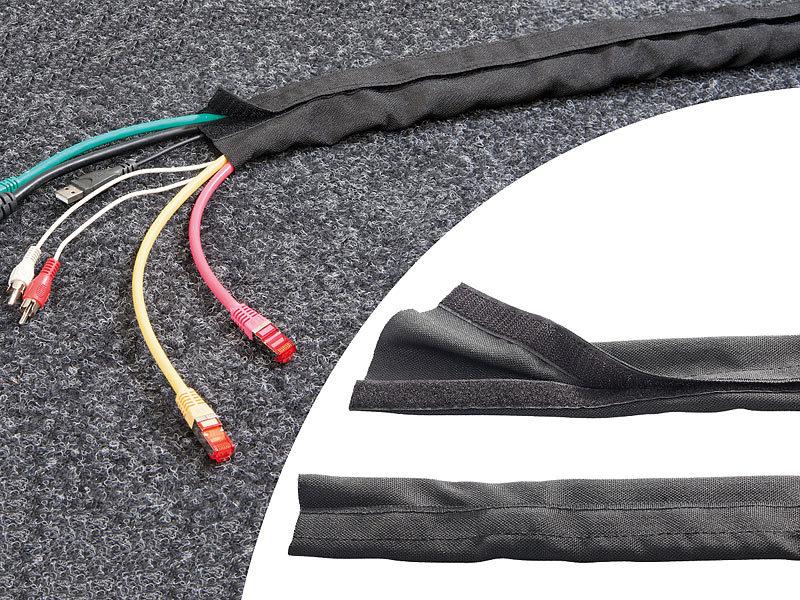 Callstel Kabelordner: Kabelschlauch mit Klettverschluss, 1 m ...