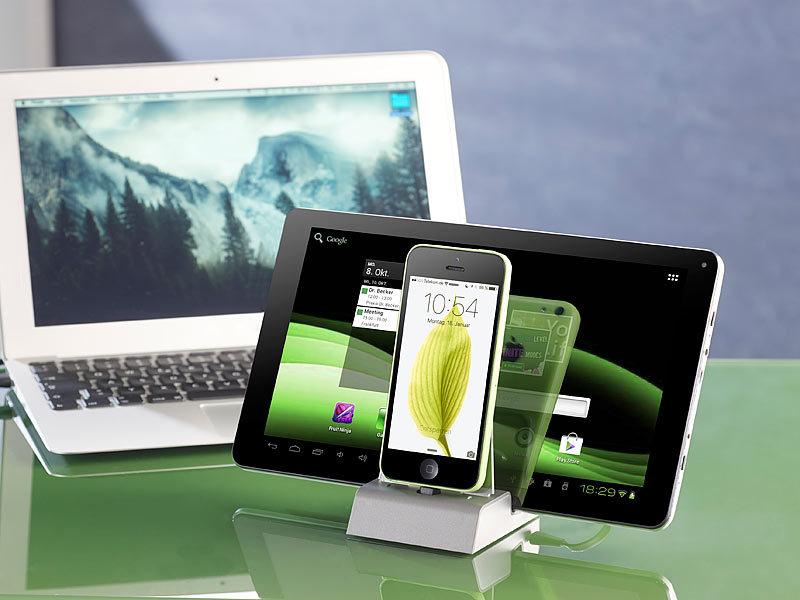 Callstel Dockingstation iPhone: Docking-Station für iPhone, iPad ...