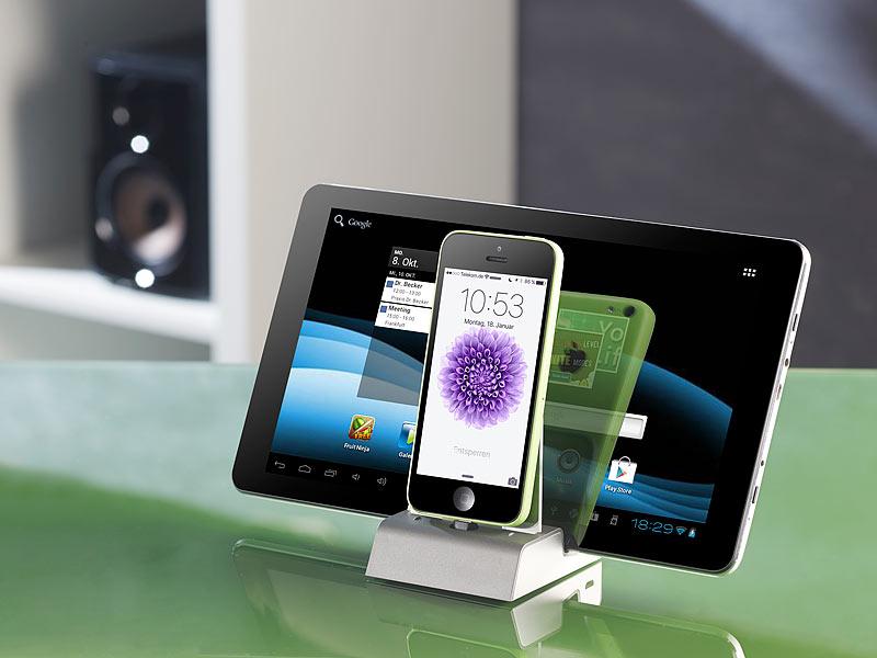 Callstel I Phone Ladestation: Docking-Station mit Bluetooth ...