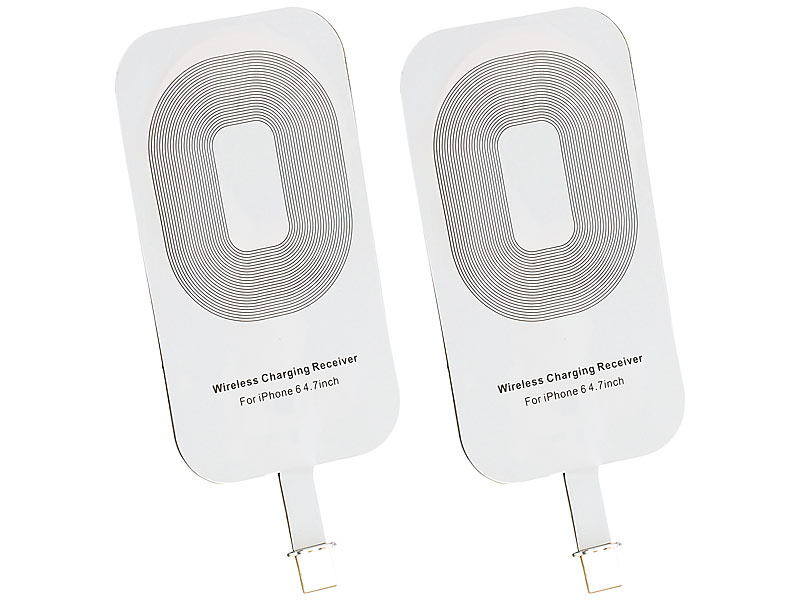 callstel induktiv charging pads qi komp receiver pad f r iphone 6 7 s und iphone 6 7 s plus. Black Bedroom Furniture Sets. Home Design Ideas