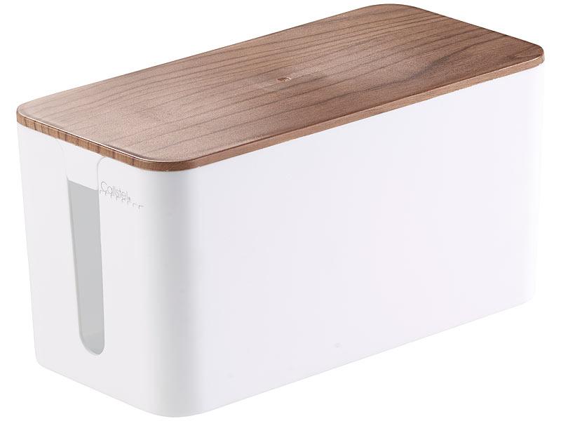 callstel kabel ordnung kabelbox klein 23 x 11 5 x 12 cm. Black Bedroom Furniture Sets. Home Design Ideas