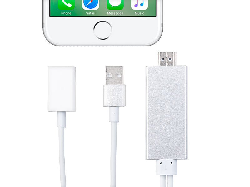Callstel lightning hdmi hdmi adapter für iphone ipad usb