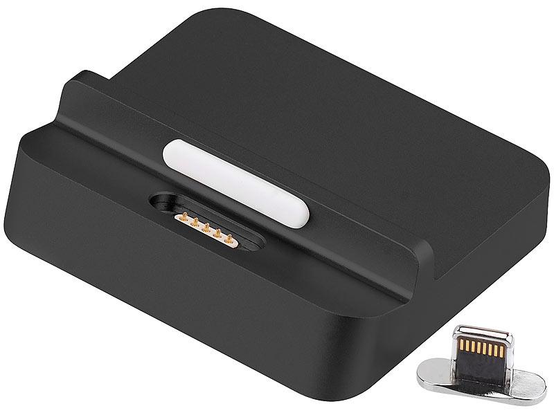 callstel iphone dock lightning docking ladestation magnet 8 pin stecker f r iphone co. Black Bedroom Furniture Sets. Home Design Ideas