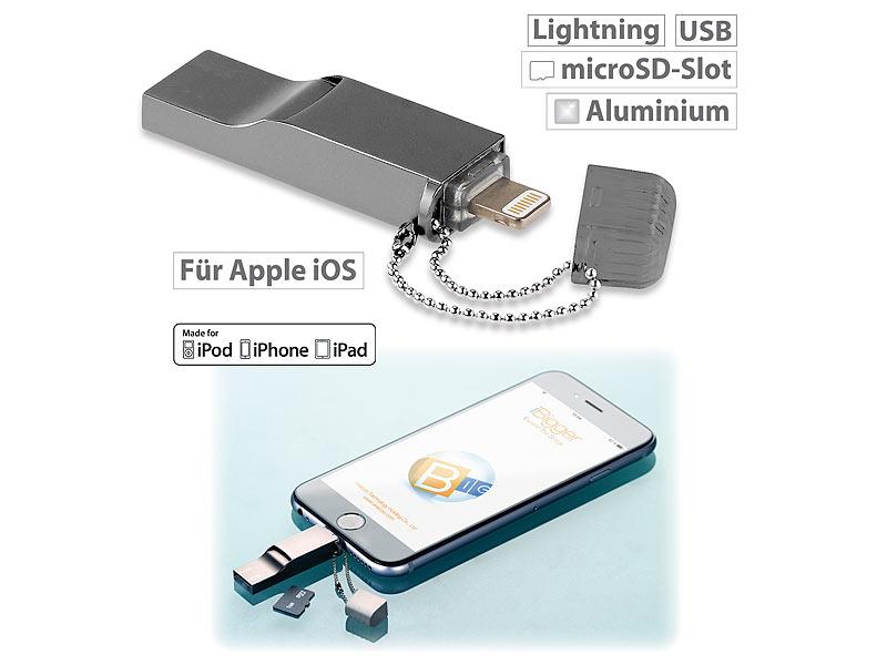 callstel iphone stick usb speicher erweiterung f r iphone. Black Bedroom Furniture Sets. Home Design Ideas