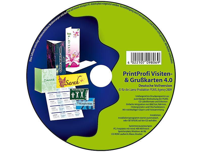 4 0 Druck Software Für Gruß Visitenkarten