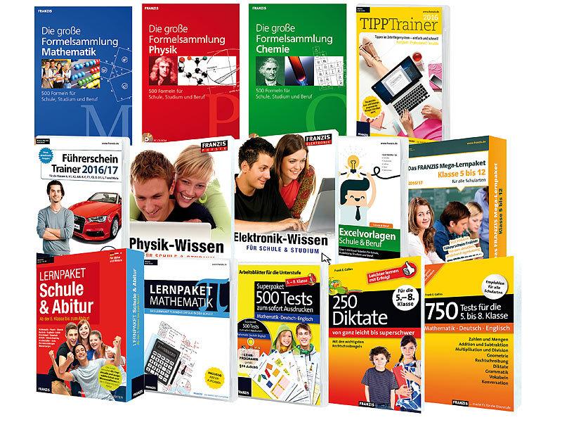 FRANZIS Mega-Lernpaket 2016/17 für alle Schularten von Klasse 5 bis 12