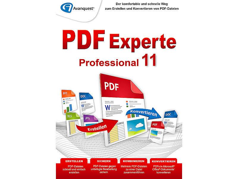 Avanquest Software: PDF Experte Professional 11 (PDF Generatoren PC ...