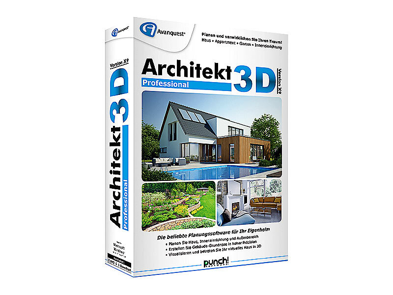Avanquest CAD Software: Architekt 3D X9 Professional - 3D ...