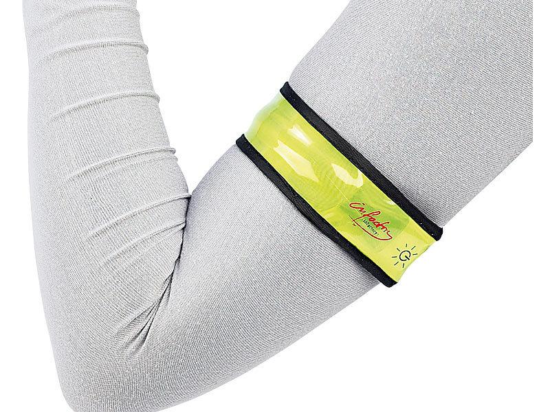 infactory led sicherheitsband mit reflektor oberfl che. Black Bedroom Furniture Sets. Home Design Ideas