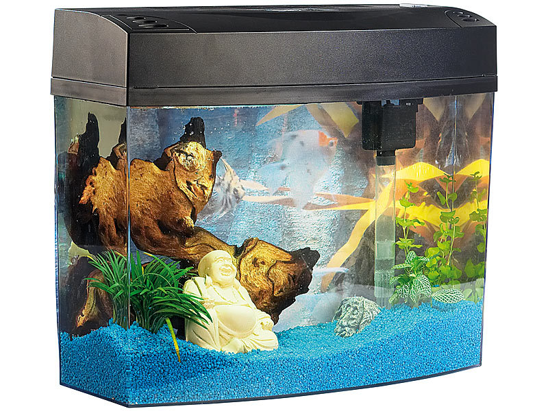 infactory aquarium poseidon im komplett set aus acryl glas 20 liter. Black Bedroom Furniture Sets. Home Design Ideas