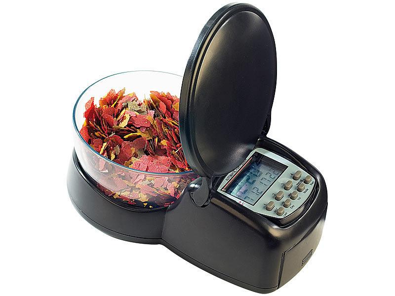 infactory futterautomat fische zeitgesteuerter futter automat f r fisch aquarien fischfutter. Black Bedroom Furniture Sets. Home Design Ideas