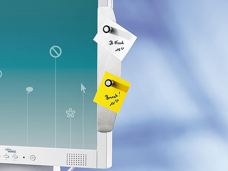 montagefrei Edelstahl-Schlüsselboard Memoboard mit Handyhalterung