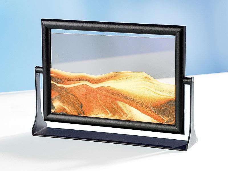 infactory Sandbilder zum Drehen: Sandbilder 3er-Pack: \