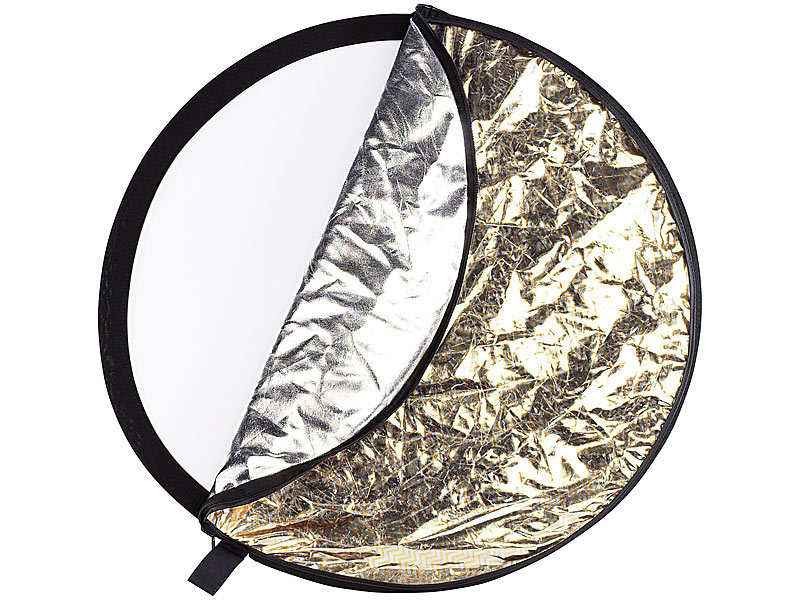somikon foto reflektor 5 fach foto faltreflektor durchmesser 55 cm fotofaltreflektor. Black Bedroom Furniture Sets. Home Design Ideas