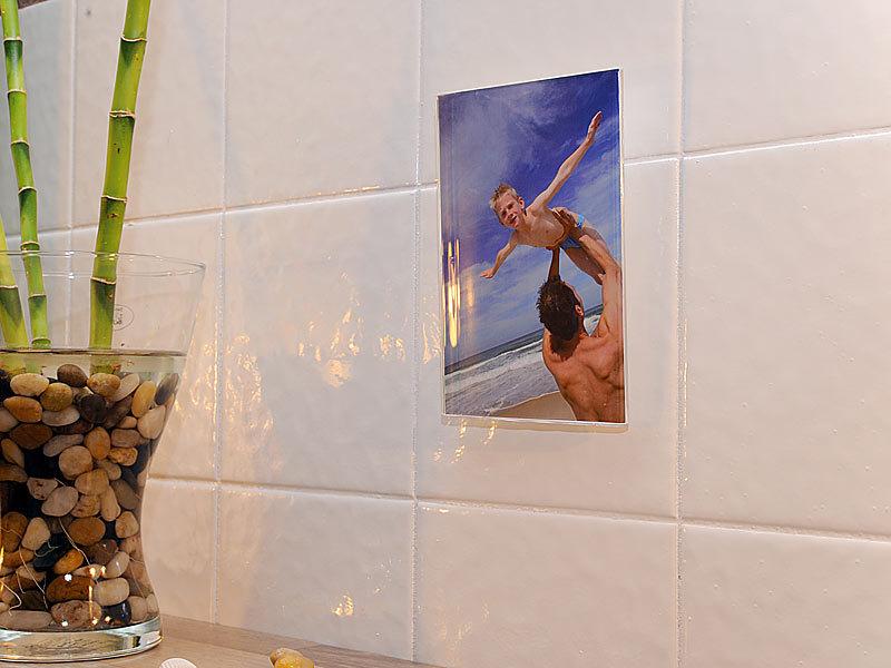 your design acrylglas bilderrahmen mit saugn pfen. Black Bedroom Furniture Sets. Home Design Ideas