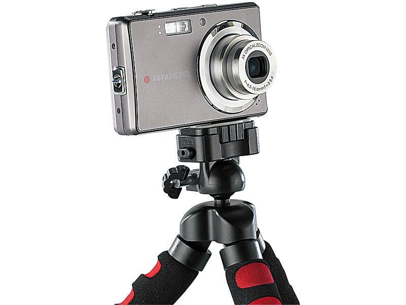 Somikon flexibles kamerastativ: ultraflexibles superbiegsames