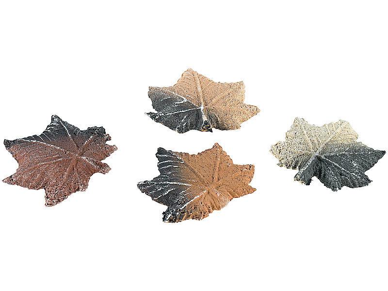 Keramik-Feuerdekoration Ahornblätter für Bio-Ethanol-Öfen