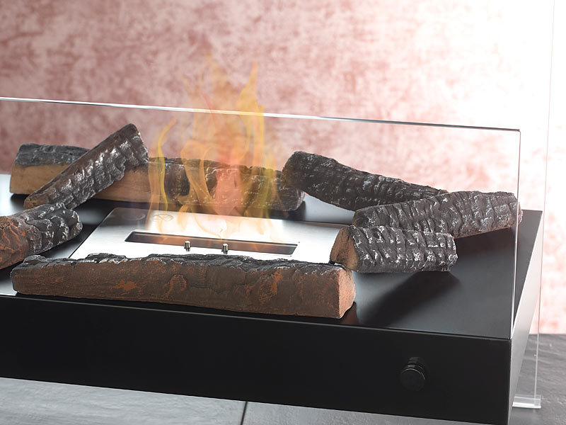 carlo milano keramik dekoration holzscheit f r bioethanol fen 4 stk. Black Bedroom Furniture Sets. Home Design Ideas