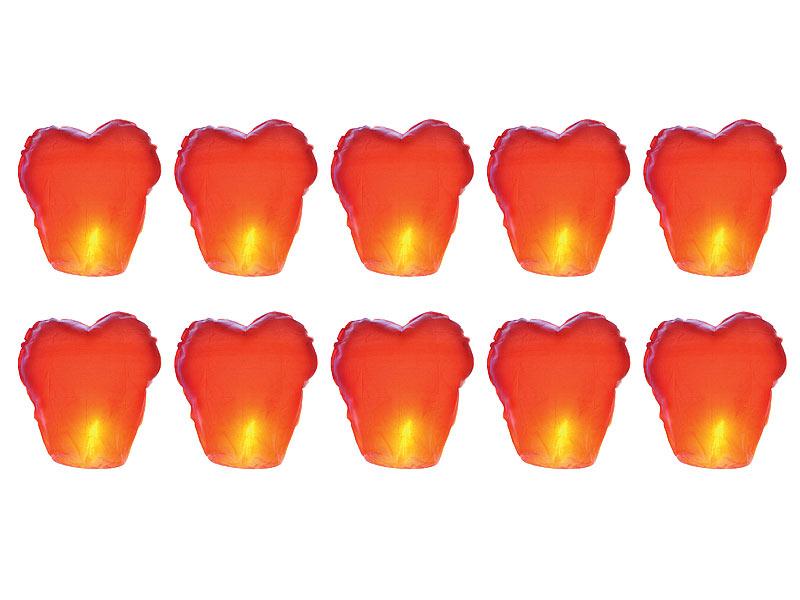 Schwebende rote Glückslaterne inkl Schnur 5er-Set Wunsch-Laterne