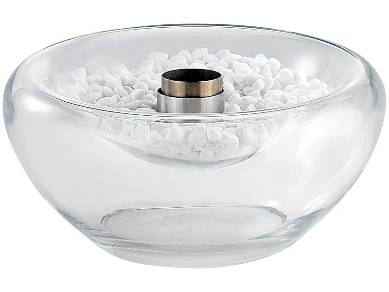 Schwimmendes Glas-Dekofeuer für Bio-Ethanol