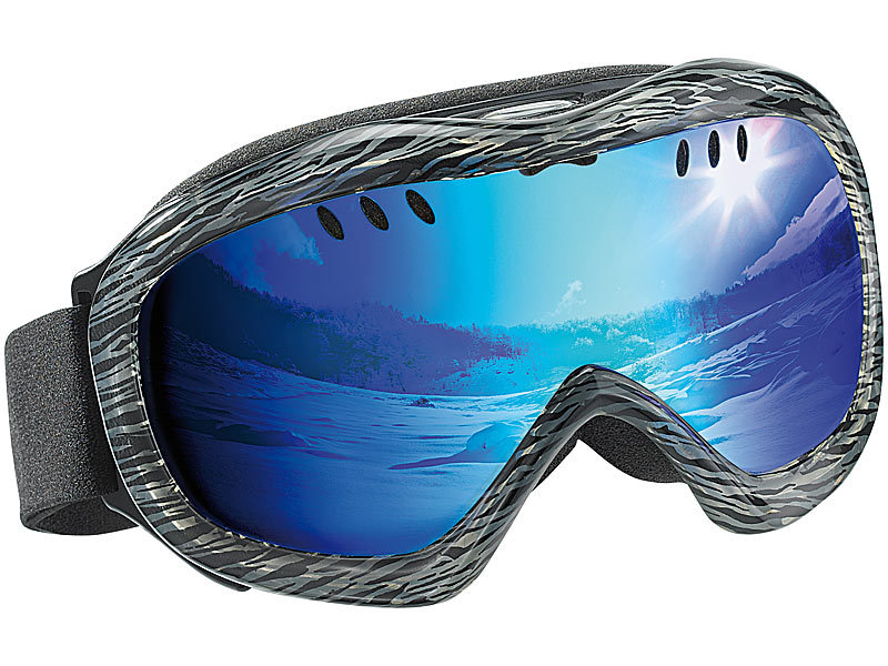 Superleichte Hightech-Ski- & Snowboardbrille inkl. Hardcase