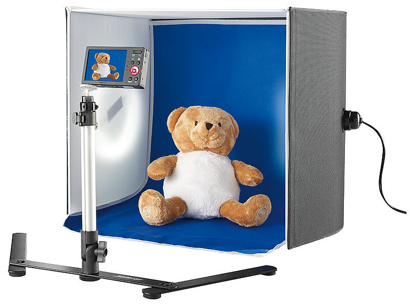 Somikon produktfoto box professionelle foto studio box 2 for Foto lampen