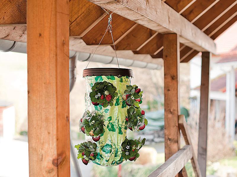 royal gardineer pflanz ampel f r erdbeeren. Black Bedroom Furniture Sets. Home Design Ideas