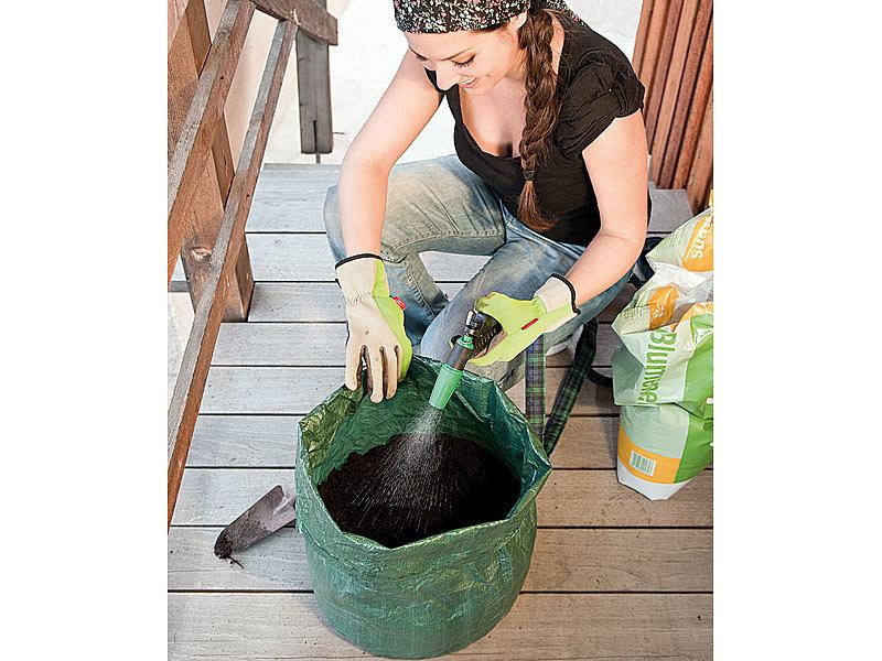 royal gardineer pflanz sack f r kartoffeln co mit tragegriffen und abwasserl cher. Black Bedroom Furniture Sets. Home Design Ideas