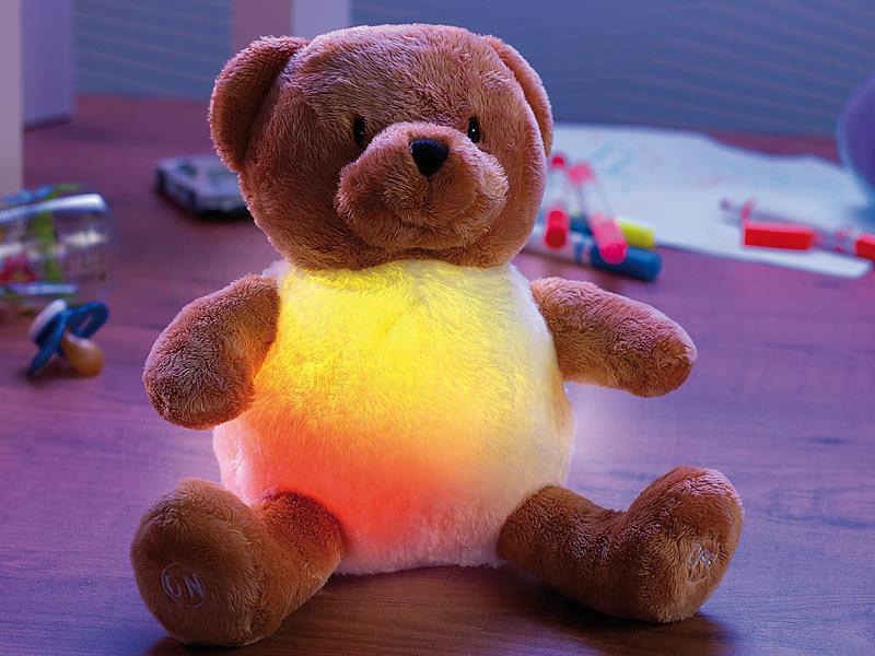 playtastic nachtlicht pl schtier kuschel nachtlicht b r mit farbwechsel led baby nachtlicht. Black Bedroom Furniture Sets. Home Design Ideas