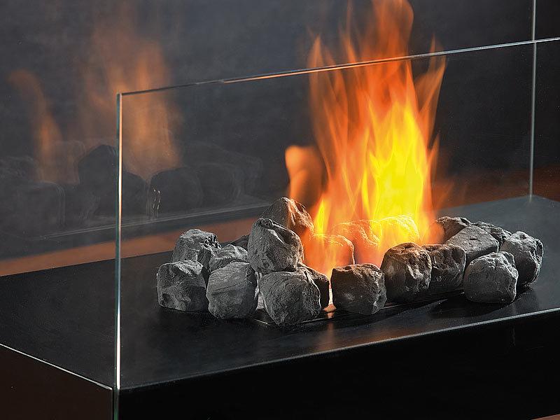 carlo milano deko steine f r bio ethanol fen schwarz. Black Bedroom Furniture Sets. Home Design Ideas